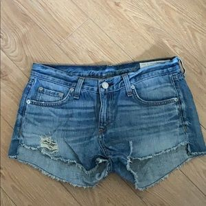 Rag & Bone denim distressed shorts